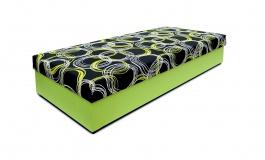 Čalúnená posteľ bez čela TARA - výber poťahu