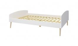 Študentská posteľ Soft 140x200cm - biela