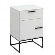 Nočný stolík Lina kombinovaný-bielo/čierny