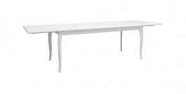 Jedálenský stôl s prídavnými doskami Baroko - biela