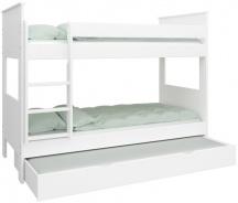 Poschodová posteľ Daisy 90x200cm so zásuvkou-biela