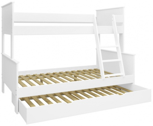 Poschodová posteľ Daisy so zásuvkou-biela
