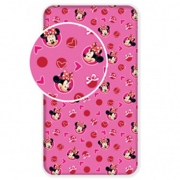Prestieradlo Minnie hearts