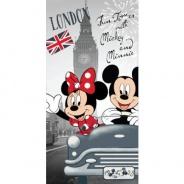 Osuška Mickey a Minnie v Londýne 70x140cm