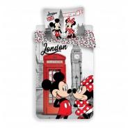 Obliečky Mickey a Minnie v Londýne