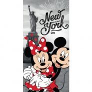 Osuška Mickey a Minnie v New Yorku 70x140cm