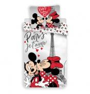 Obliečky Mickey a Minnie v Paríži
