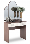 Toaletný stolík so zrkadlom BASIA CT-551 sv./tm. jaseň šimo