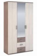 Šatníková skriňa 3-dverová ROCHEL 45 cm jaseň šimo
