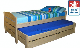 Detská posteľ s prístelkou Jesper P - buk
