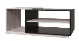 Konferenčný stolík Vulcano - dub / čierna