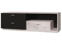 Televízny stolík Vulcano - dub / čierna