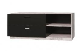 TV stolík Vulcano - dub / čierna