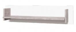 Závesná polička Vulcano I - dub / biela