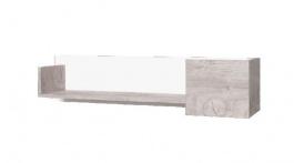 Závesná polička Vulcano II - dub / biela