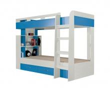 Poschodová posteľ Adela - jaseň/modrá