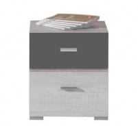 Nočný stolík Delbert 17 - borovica / tmavo šedá