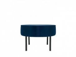 Čalúnený taburet/stolík Lafu H-modrý