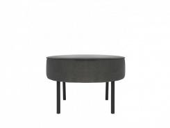 Čalúnený taburet/stolík Lafu H-šedý