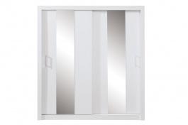 Šatníková skriňa Angelika so zrkadlom II - biela