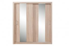 Šatníková skriňa Angelika so zrkadlom II - dub sonoma