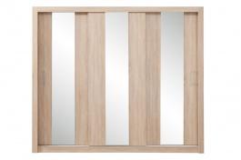 Šatníková skriňa Angelika so zrkadlom I - dub sonoma
