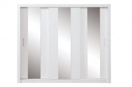 Šatníková skriňa Angelika so zrkadlom I - biela