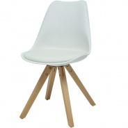 Jídelní židle Fashion - bílá/buk