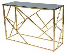 Konzolový stolík ESCADA C zlatý kov/dymové sklo