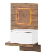 Nočný stolík LIVORNO 68 ľavý dub wotan/biela