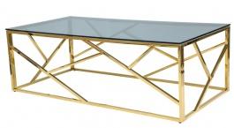 Konferenčný stolík ESCADA A zlatý kov/dymové sklo