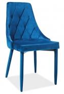 Jedálenská čalúnená stolička TRIX VELVET modrá