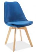 Jedálenská čalúnená stolička DIOR VELVET granátová/buk