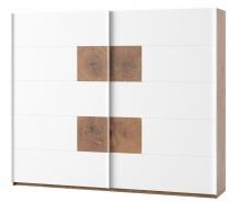 Šatníková skriňa 2-dverová LIVORNO 72 dub wotan/biela
