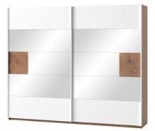 Šatníková skriňa 2-dverová LIVORNO 73 dub wotan/biela