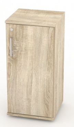 Malá dverová skrinka REA Office 20 + D2 - dub bardolino - výber dvierok