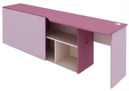 Písací stôl s kontajnerom Aurora, pravý - výber odtieňov