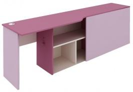 Písací stôl s kontajnerom Aurora,ľavý-výber odtieňov