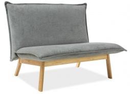 Čalúnené dvojkreslo - sofa BOLLO 2 sivá