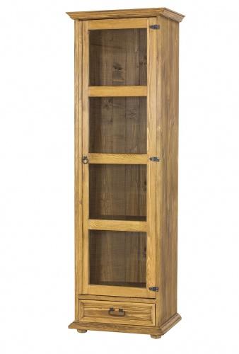 Vitrína z masívneho dreva VIT 116 SLIM - výber morenia