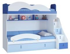 Detská poschodová posteľ Aurora I 90x200cm, ľavá - výber odtieňov