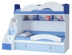 Detská poschodová posteľ Aurora I 90x200cm,pravá-výber odtieňov