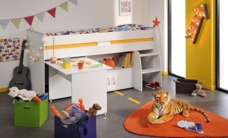 Detská posteľ Reverse multifunkčná - biela