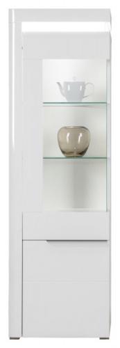 Presklená vitrína Irma, ľavá - biela