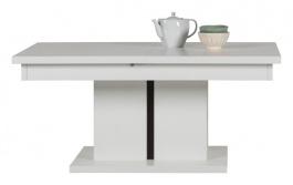 Rozkladací konferenčný stolík Irma - biely / wenge