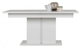 Rozkladací jedálenský stôl Irma - biely