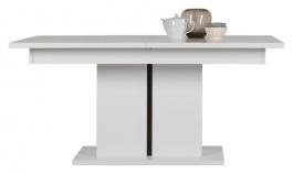 Rozkladací jedálenský stôl Irma - biely / wenge