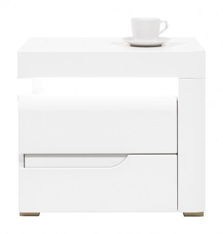 Nočný stolík Irma, pravý - biely