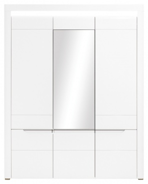 Trojdverová šatníková skriňa Irma so zrkadlom - biela