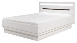 Manželská posteľ Irma 160x200cm - biela / wenge
